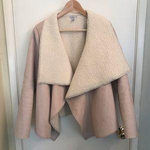 TOBI faux fur lined coat